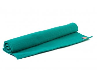 Organic Yoga Rug Teal