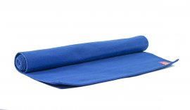 Organic Yoga Rug Blue