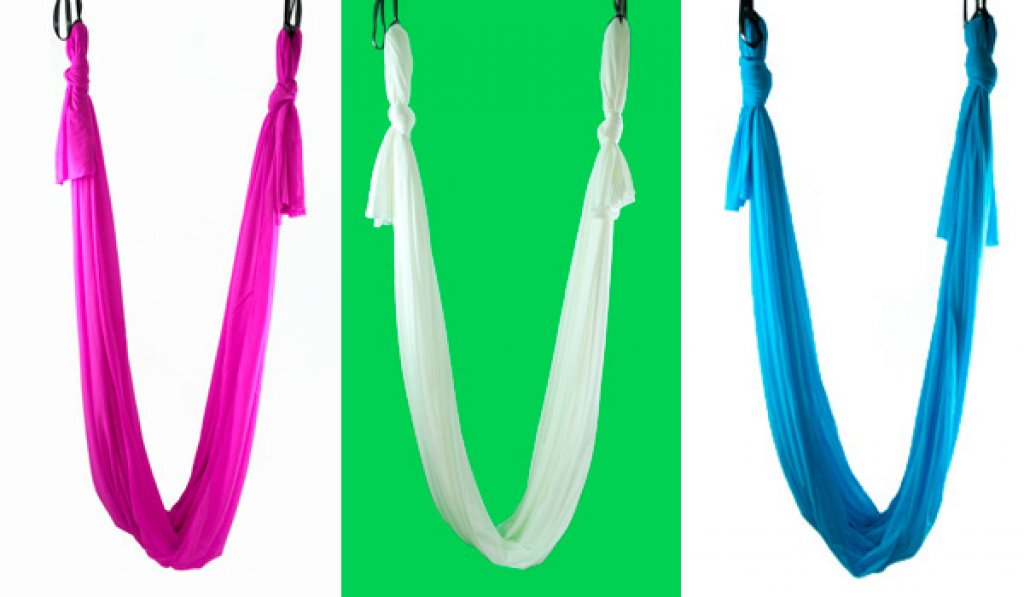 Medium image of aerial yoga hammock kit