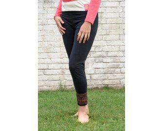Pushpa Long Black Leggings