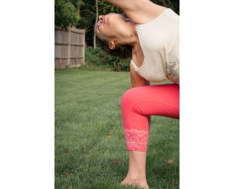 Pushpa Coral 3/4 Leggings