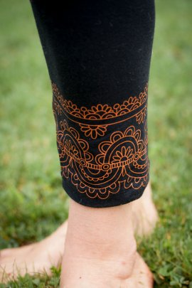 Pushpa Long Black Leggings